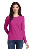 Women's Heavy Cotton 100 Cotton Long Sleeve TShirt Heliconia Thumbnail
