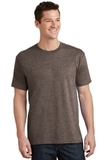 5.5-oz 100 Cotton T-shirt Heather Dark Chocolate Brown Thumbnail