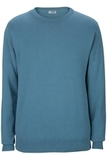 Edwards Crew Neck Cotton Blend Sweater Slate Blue Thumbnail