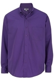 Men's Easy Care Poplin Shirt LS Purple Thumbnail