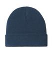 Knit Cuff Beanie Dress Blue Navy Thumbnail