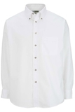 Men's Button Down Poplin Shirt LS White Thumbnail