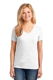 Women's 5.4-oz 100 Cotton V-neck T-shirt White Thumbnail