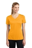 Women's V-neck Competitor Tee Gold Thumbnail