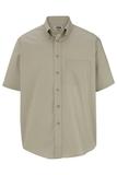 Men's Button Down Poplin Shirt SS Tan Thumbnail