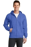 7.8-oz Full-zip Hooded Sweatshirt Heather Royal Thumbnail