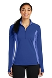 Women's SportWick Stretch Contrast 1/2-Zip Pullover True Royal with True Royal Heather Thumbnail