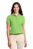 Women's Silk Touch Polo Shirt Lime Thumbnail