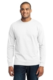 Long Sleeve 50/50 Cotton / Poly T-shirt White Thumbnail
