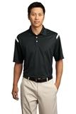 Nike Golf Dri-FIT Shoulder Stripe Polo Shirt Black with White Thumbnail