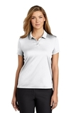 Women's Nike Golf Dry Essential Solid Polo White Thumbnail