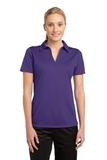 Women's Active Textured Polo Purple Thumbnail
