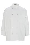 10 Pearl Button Chef Coat White Thumbnail