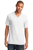 5.4-oz 100 Cotton V-neck T-shirt White Thumbnail