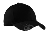 Racing Cap With Flames Black with Charcoal Thumbnail