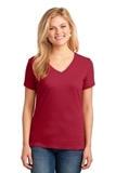 Women's 5.4-oz 100 Cotton V-neck T-shirt Red Thumbnail