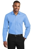 Slim Fit Carefree Poplin Shirt Carolina Blue Thumbnail