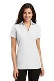 Women's Silk Touch Y-Neck Polo Shirt White Thumbnail