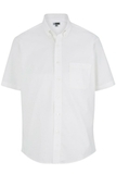 Men's Easy Care Poplin Shirt SS White Thumbnail