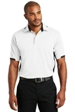 Dry Zone Colorblock Ottoman Polo Shirt White with Black Thumbnail