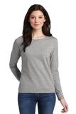 Women's Heavy Cotton 100 Cotton Long Sleeve TShirt Sport Grey Thumbnail
