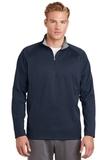 1/4-zip Fleece Pullover Navy with Silver Thumbnail
