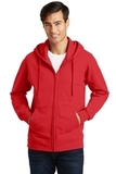 Port & Company Fan Favorite Fleece Full-Zip Hooded Sweatshirt Bright Red Thumbnail
