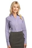 Women's Plaid Pattern Easy Care Shirt Purple Thumbnail