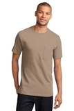 100 Cotton T-shirt With Pocket Sand Thumbnail