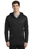 Nike Golf Therma-FIT Full-Zip Fleece Hoodie Black Thumbnail