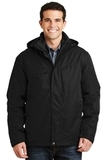 Herringbone 3-in-1 Parka Black Thumbnail