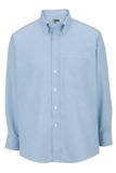 Men's Dress Button Down Oxford LS Blue Thumbnail