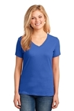 Women's 5.4-oz 100 Cotton V-neck T-shirt Royal Thumbnail