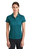 Women's Nike Golf Dri-FIT Crosshatch Polo Blustery with Navy Thumbnail