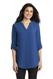 Women's 3/4-Sleeve Tunic Blouse True Blue Thumbnail