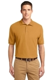 Extended Size Silk Touch Polo Shirt Gold Thumbnail