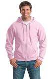 Full-zip Hooded Sweatshirt Light Pink Thumbnail