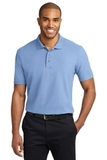 Stain-resistant Polo Shirt Light Blue Thumbnail