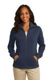 Women's Port Authority Slub Fleece Full-zip Jacket Navy Thumbnail