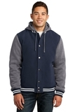 Insulated Letterman Jacket True Navy with Vintage Heather Thumbnail