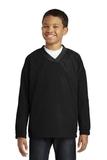 Youth V-neck Raglan Wind Shirt Black Thumbnail