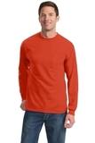 100 Cotton Long Sleeve T-shirt With Pocket Orange Thumbnail