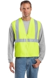 Ansi-compliant Safety Vest Safety Yellow with Reflective Thumbnail