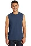 Core Cotton Sleeveless Tee Navy Thumbnail