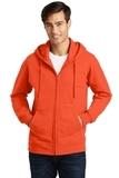Port & Company Fan Favorite Fleece Full-Zip Hooded Sweatshirt Orange Thumbnail