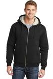 Heavyweight SherpaLined Hooded Fleece Jacket Black Thumbnail