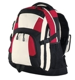 Urban Backpack Black with Red and Stone Thumbnail