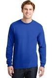 Dryblend 50 Cotton/50 Dryblend Poly Long Sleeve T-shirt Royal Thumbnail