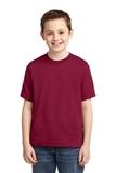 Youth 50/50 Cotton / Poly T-shirt Cardinal Thumbnail