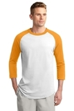 Colorblock Raglan Jersey White with Gold Thumbnail